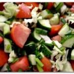 Салат из овощей. Рецепт приготовления по-грузински.