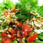 Рецепт салата из овощей. Вариант №2.