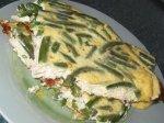 яичница с зеленой фасолью