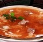 суп из говядины с помидорами