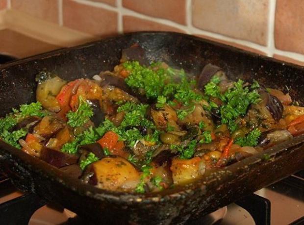 Баклажаны тушеные с овощами рецепт с пошагово
